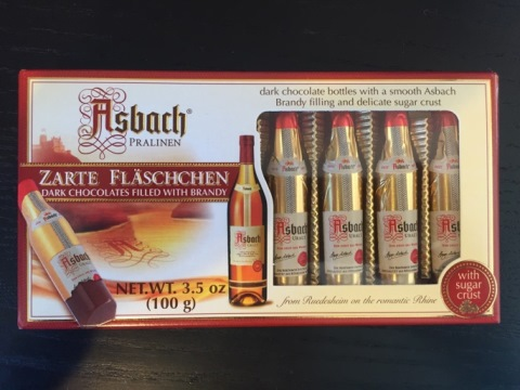 *Asbach Brandy filled choc bottles (ALCOHOL) 21+